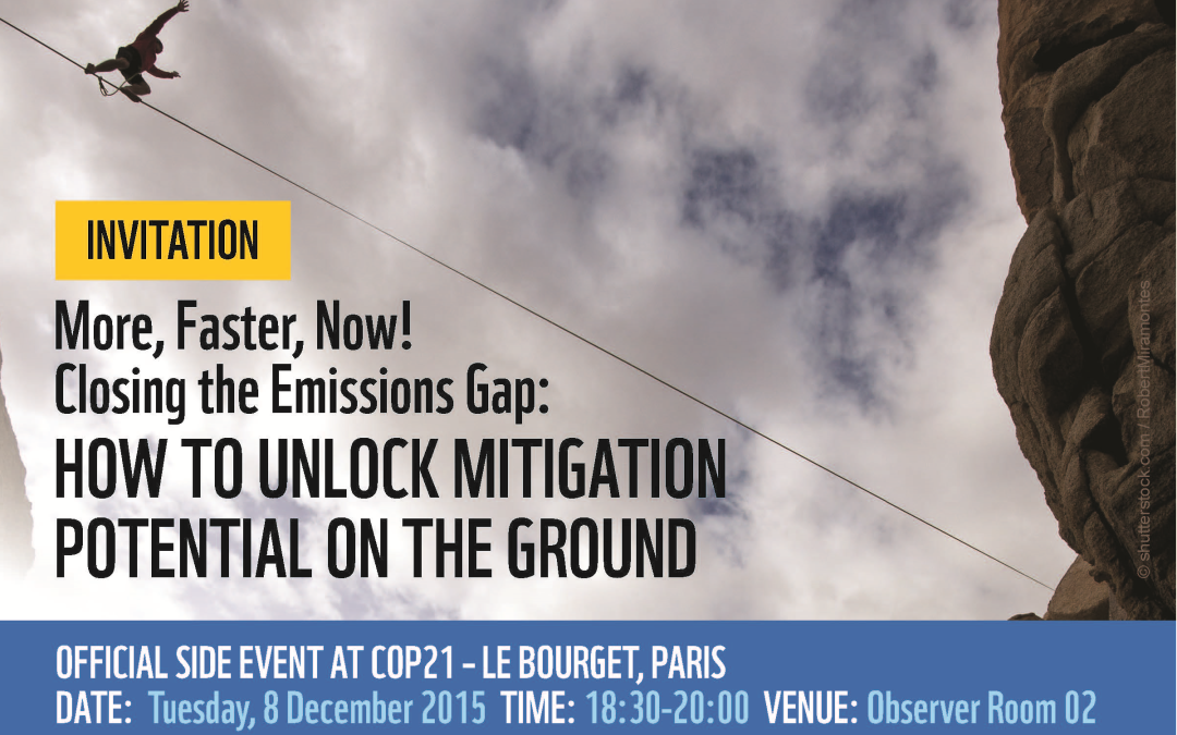 SIDS DOCK – SEA OFFICIAL SIDE EVENT AT COP21