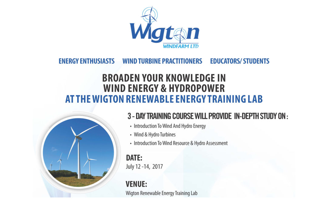 Wigton Windfarm 3 – Day Training Course
